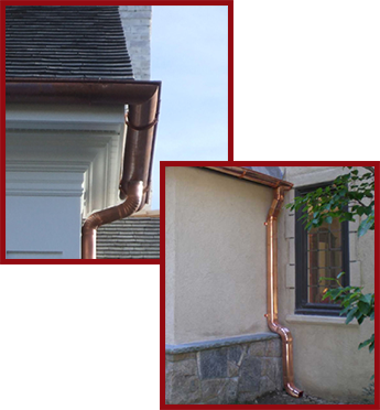 Beautiful Copper Gutters In Yorktown Heights, NY