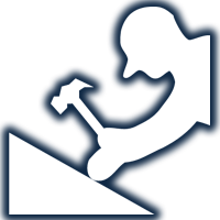 Man With Hammer in Hand Icon