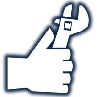 Hand With Wrench Icon